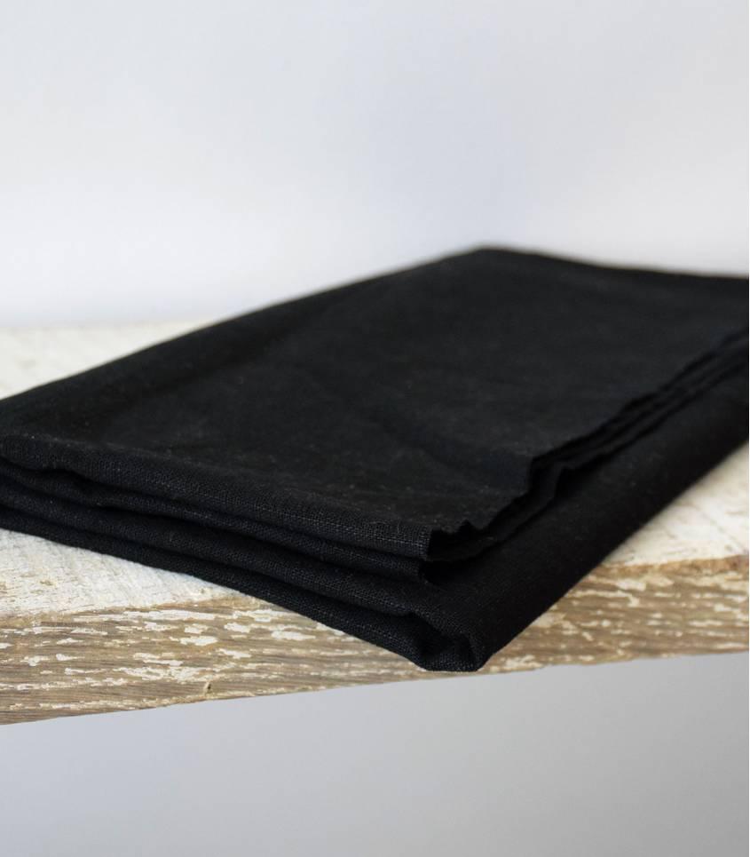 Tissu Lin noir