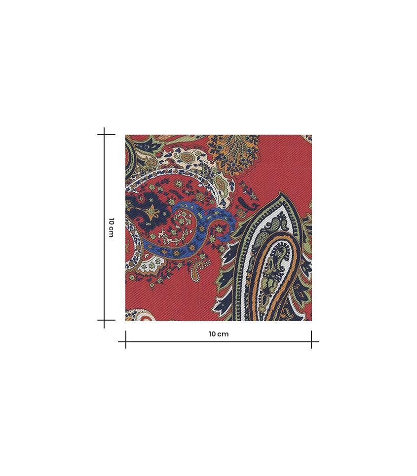 Tissu lyocell - Chachemire Sanguine
