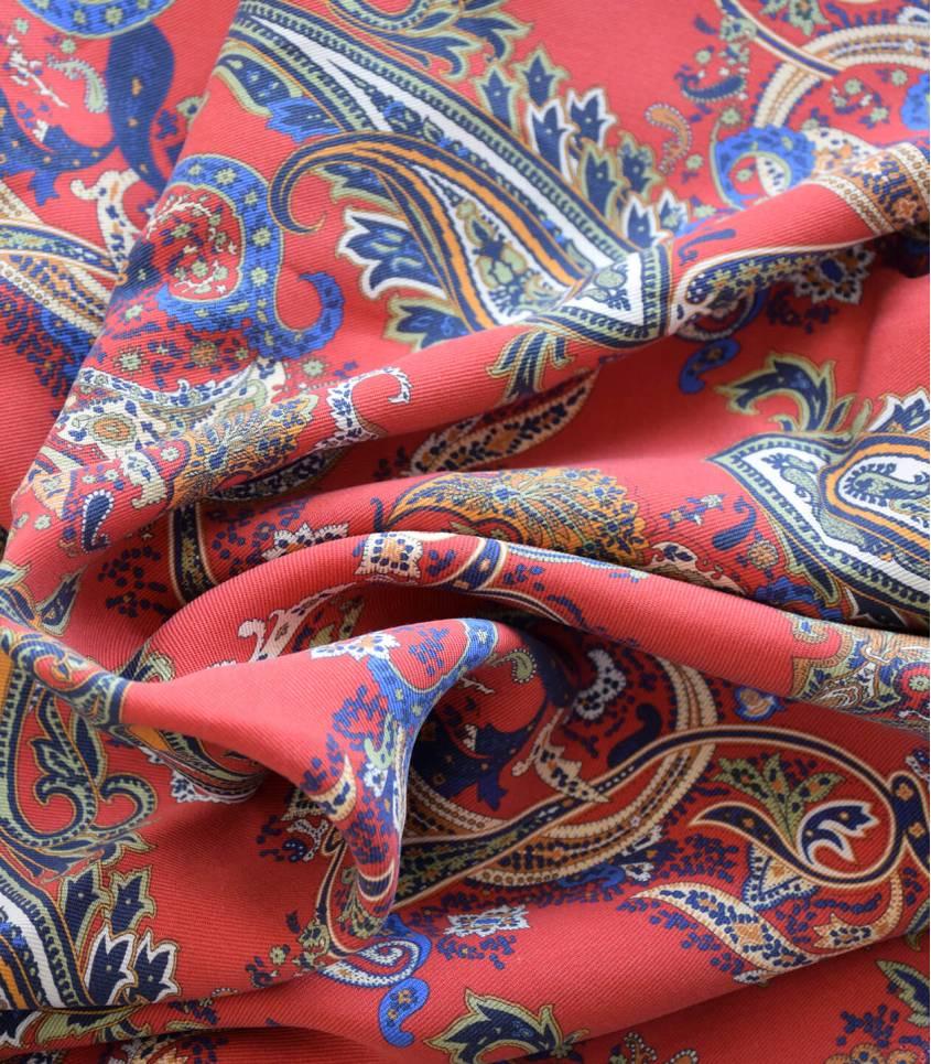 Tissu lyocell - Cachemire Sanguine