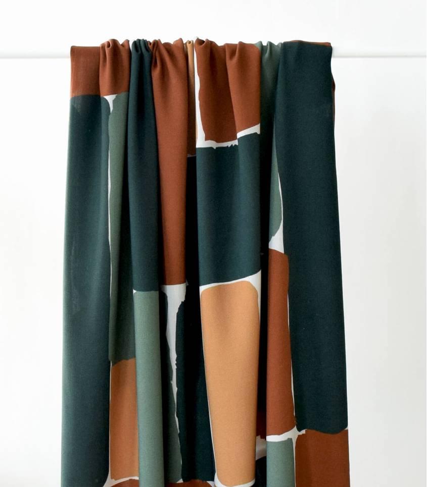 Tissu viscose - Brick Green