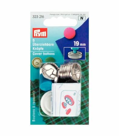 Boutons à recouvrir métal 19mm - Prym