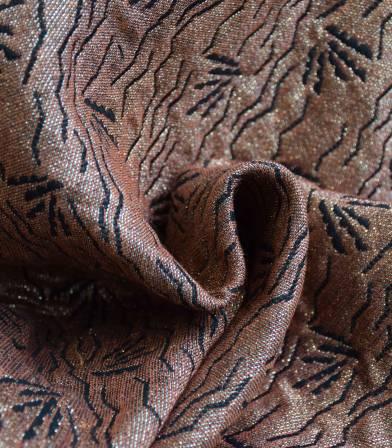 Tissu jacquard Dune-Terracotta Gold