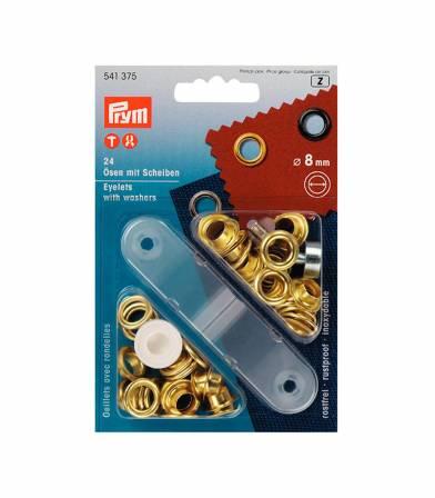 Oeillets jaune 8mm - PRYM