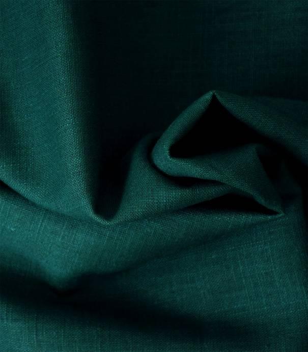Tissu lin vert forest