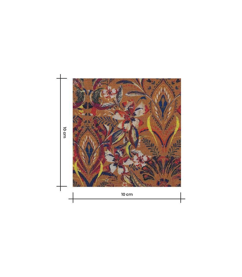 Tissu viscose/Laine - Fleurs Indiennes