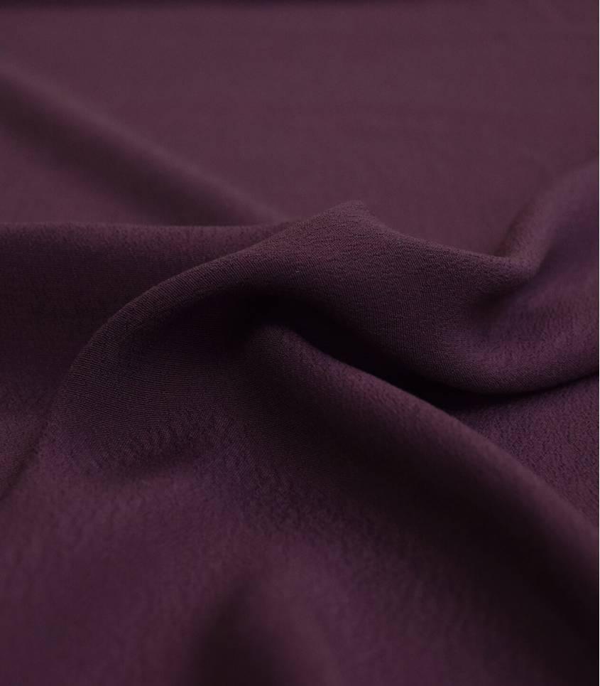 Tissu crêpe viscose - Cassis
