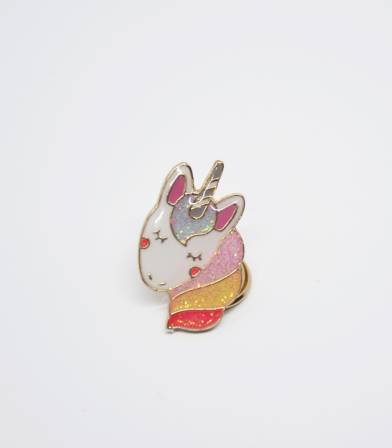 Pin's Licorne rainbow