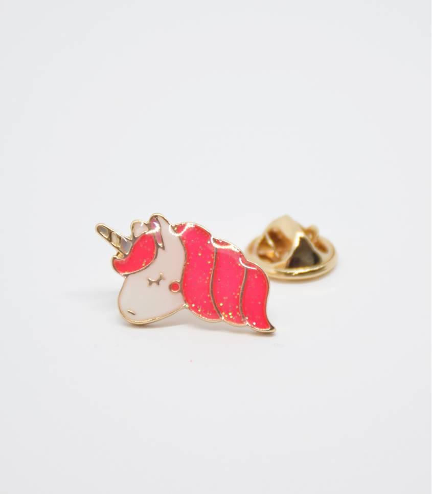 Pin's Licorne pink