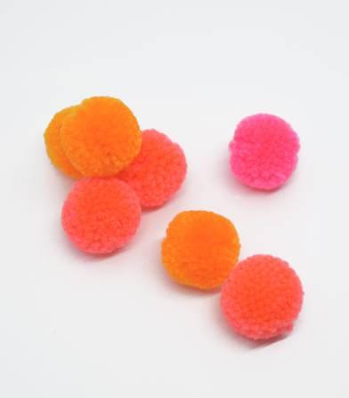 Set de pompons - Fluo