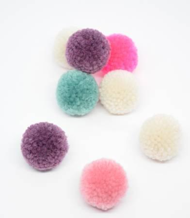 Set de pompons - Xmas pastel