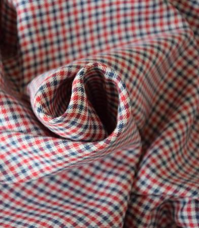 Tissu viscose petits carreaux - Frenchy
