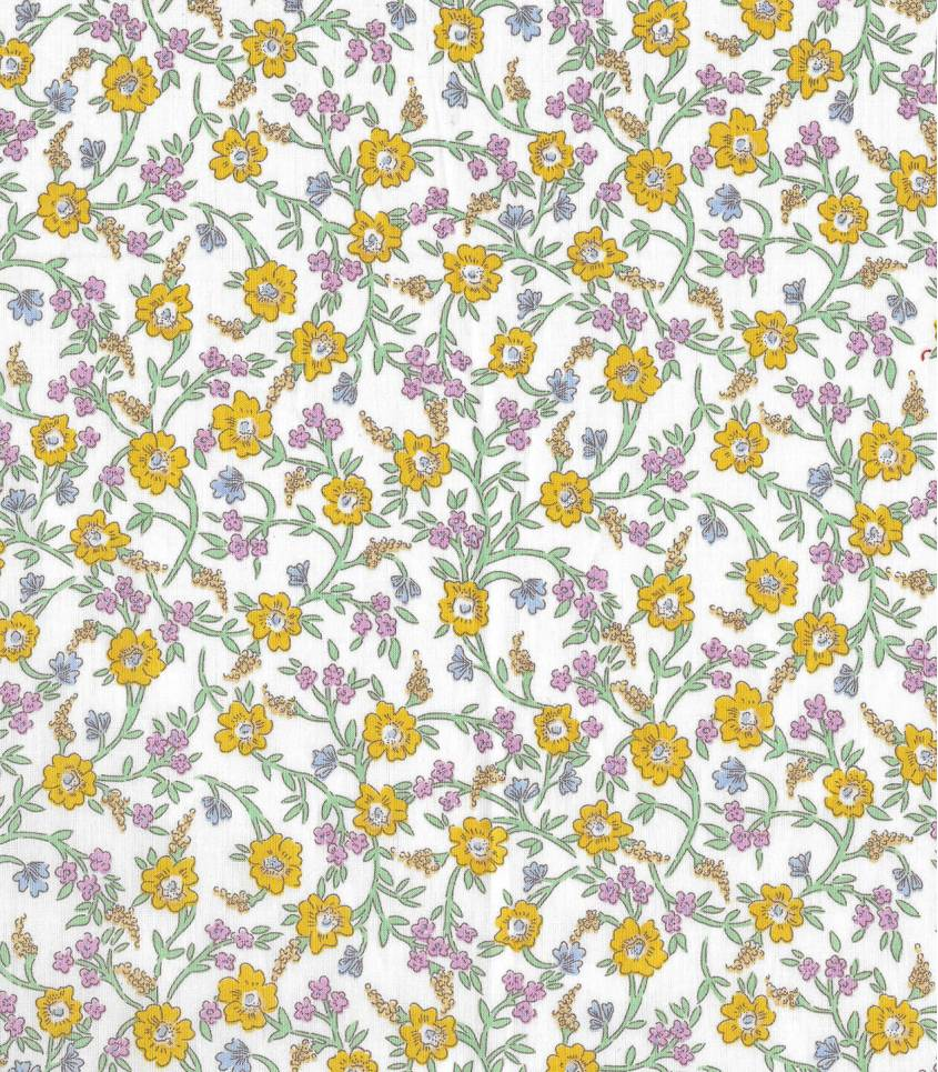 Tissu Liberty Hanna Fay - Yellow