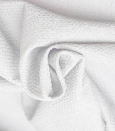 Tissu coton gaufré - blanc