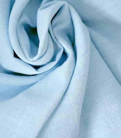 Tissu Lin lavé bleu ciel