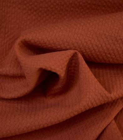 Tissu coton gaufré - rouille