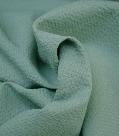Tissu coton gaufré - céladon