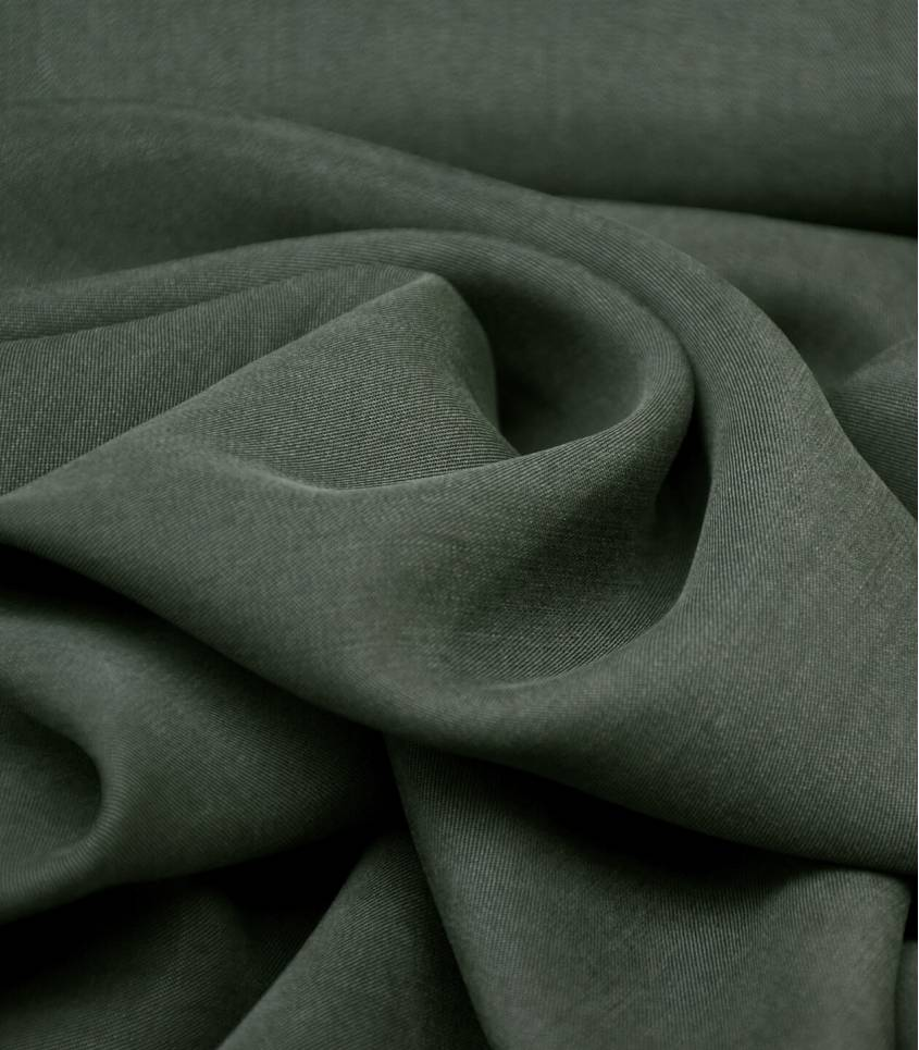 Tissu lyocell twill - Kaki