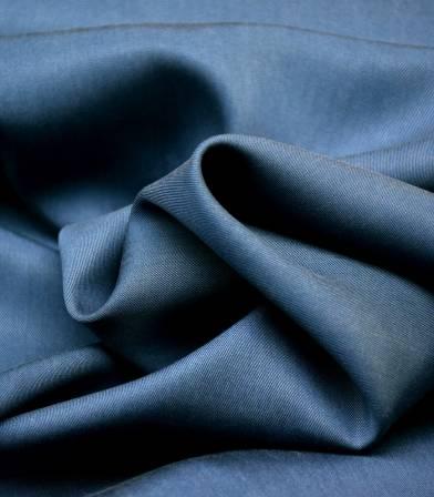 Tissu lyocell twill - Bleu