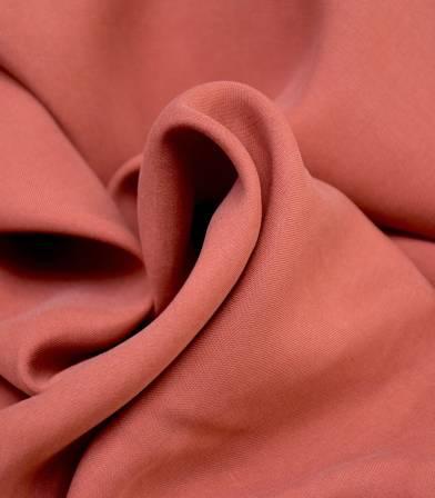 Tissu Tencel twill - Rouille