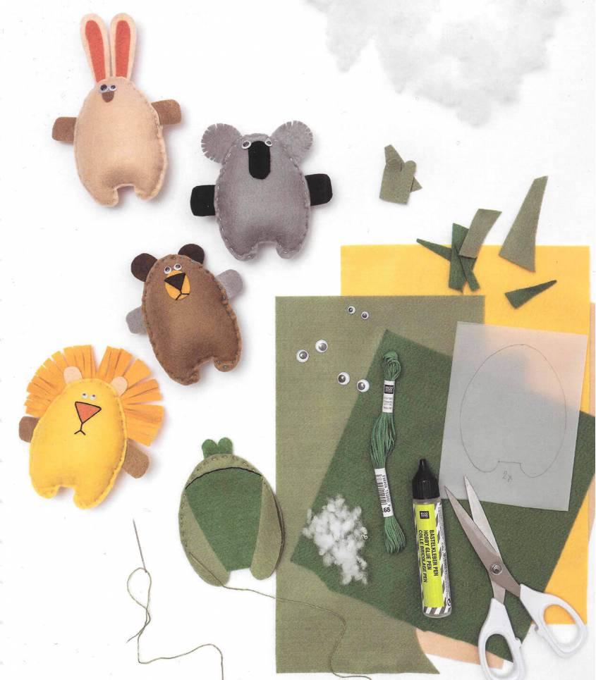 Set animaux - plaques de feutre