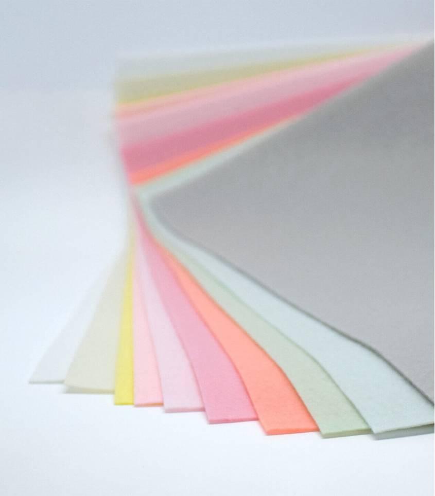 Set pastel - plaques de feutrine