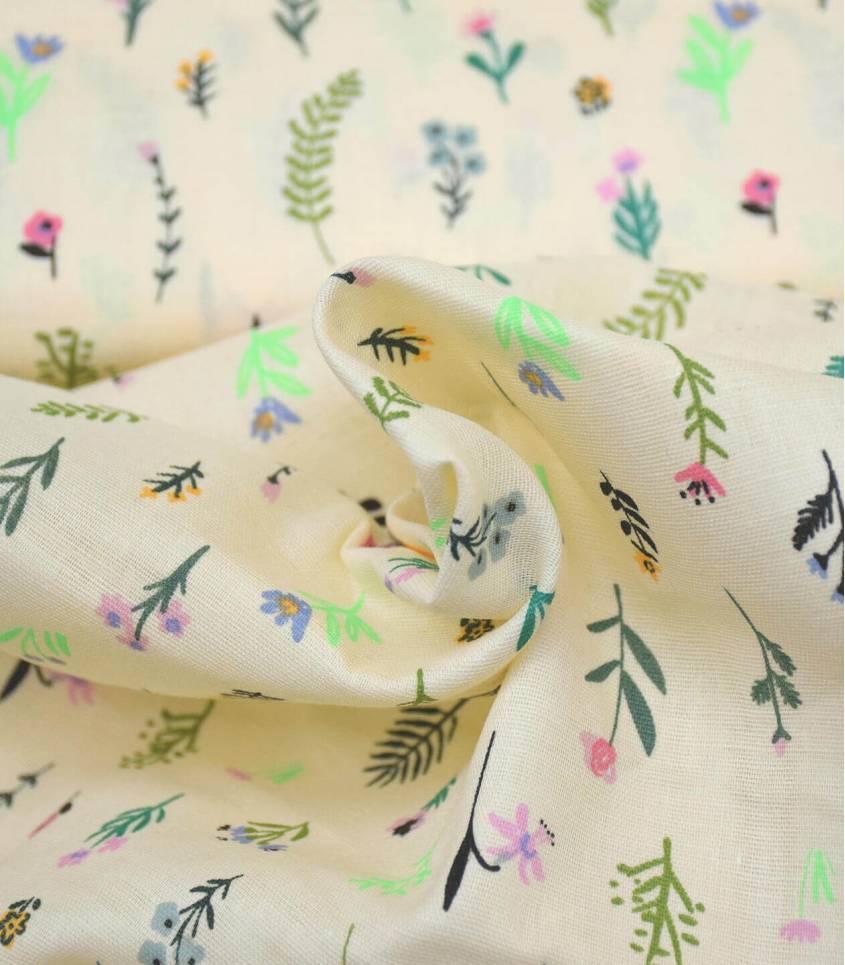 Tissu mousseline de coton - Millefleurs