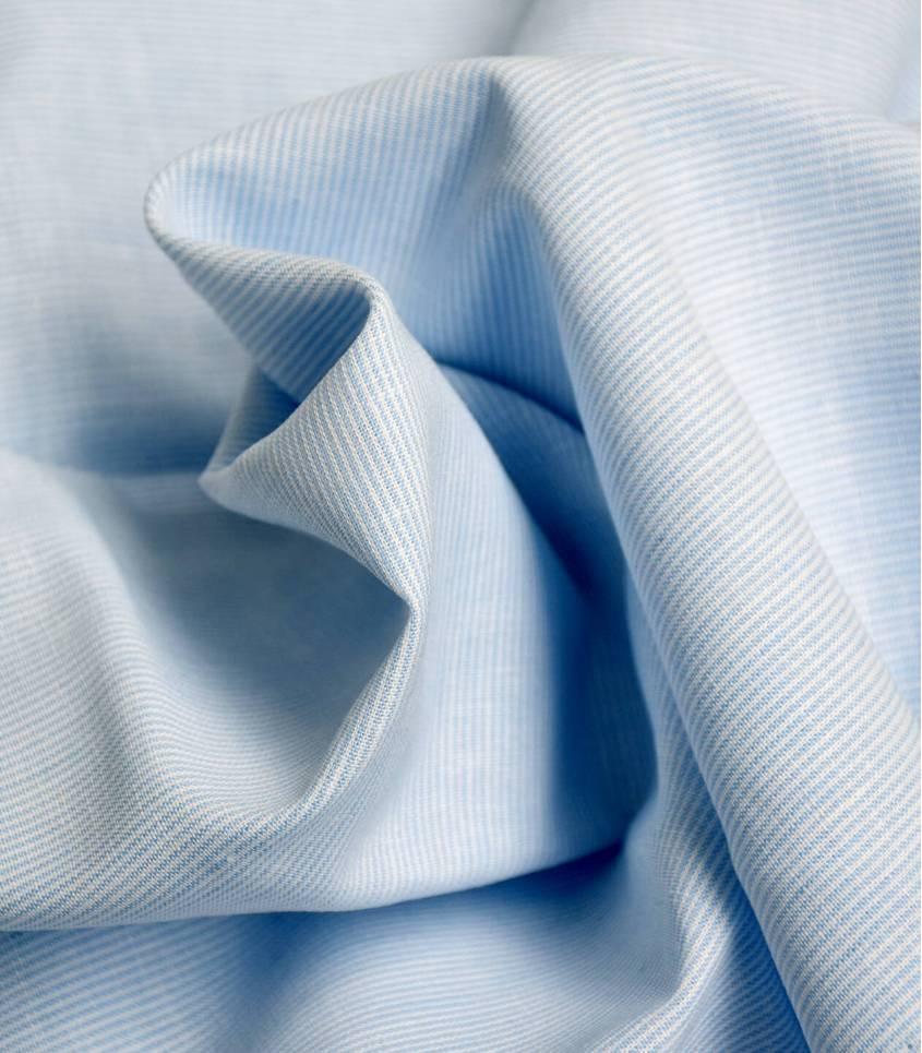 Tissu Fines rayures - CIEL