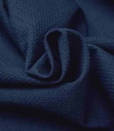 Tissu coton gaufré - marine