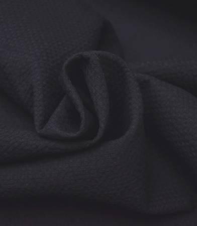 Tissu coton gaufré - noir