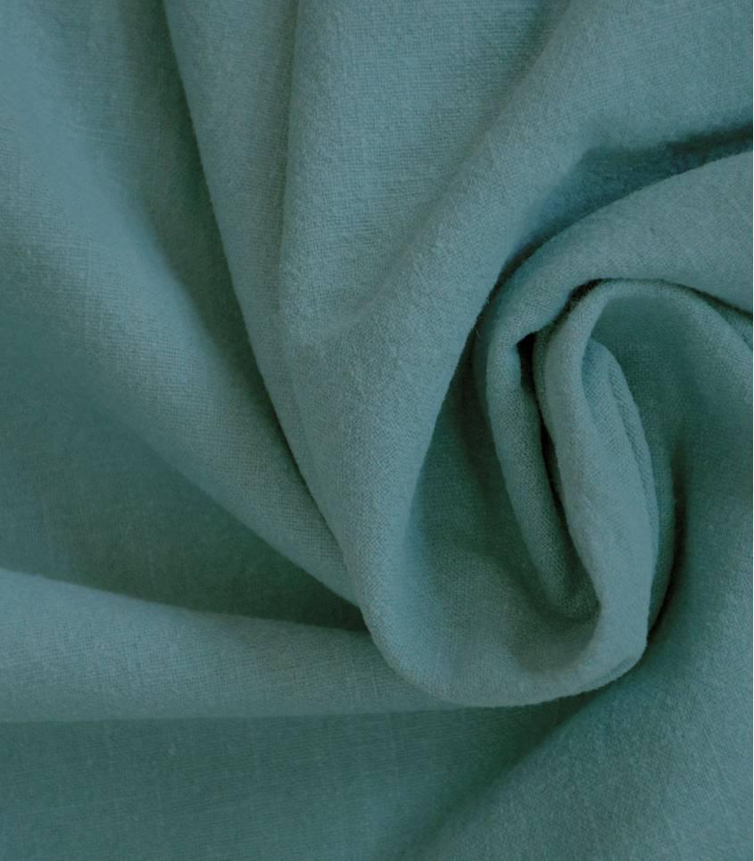 Tissu Lin lavé bleu sarcelle