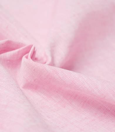Tissu Lin coton - rose