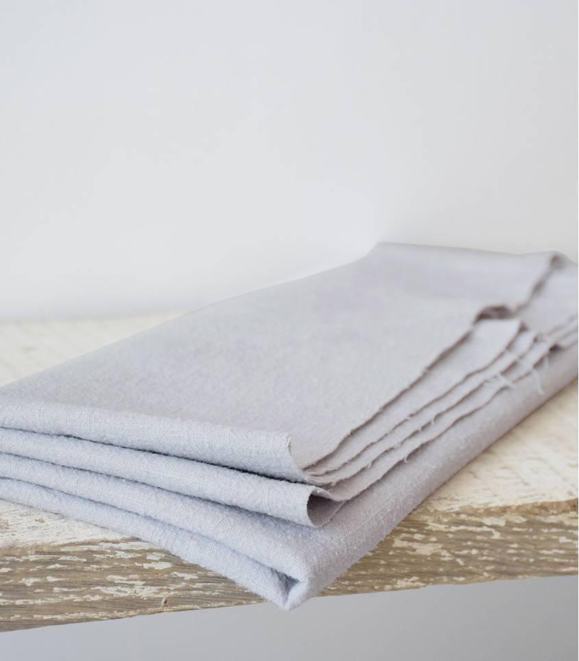 Tissu Lin lavé gris perle