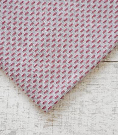 Tissu jersey pointillé - gris / vx rose
