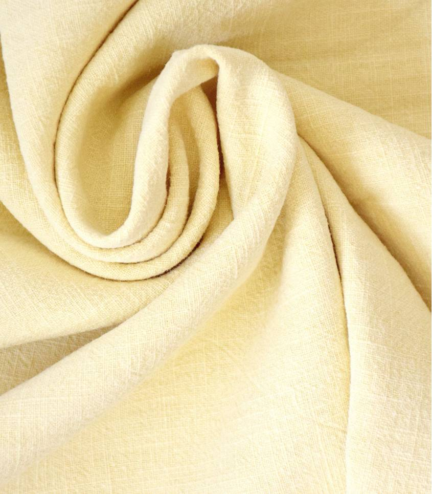 Tissu Lin lavé jaune pâle