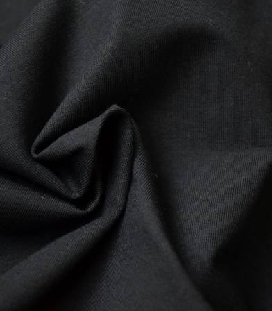 Tissu jersey noir - OEKO TEX