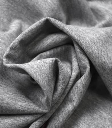 Tissu jersey gris chiné - OEKO TEX