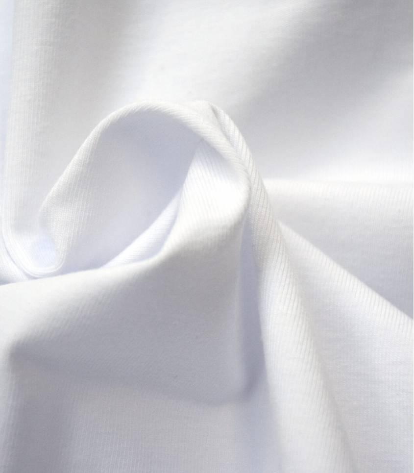 Tissu jersey blanc- OEKO TEX
