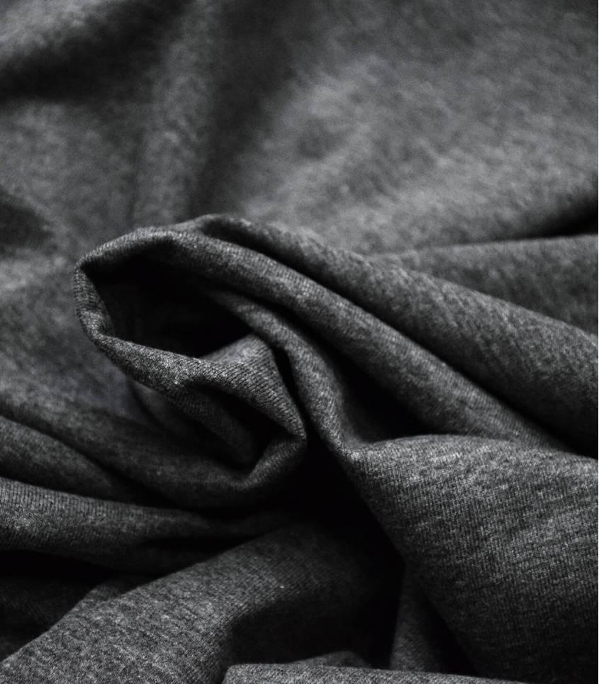 Jersey gris chiné foncé- OEKO TEX