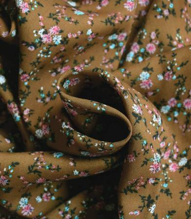 Tissu viscose gypsophile - bronze