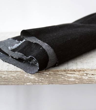 Tissu Denim noir