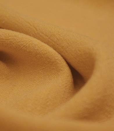 Tissu Lin viscose - Moutarde