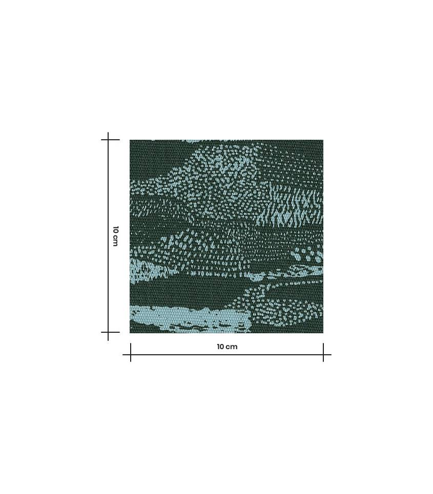 Tissu canvas abstract green - Rico Design