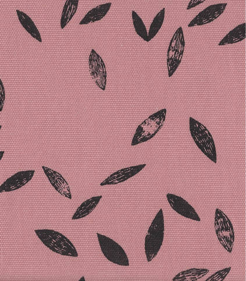 Tissu canvas pink leaves - Rico Design