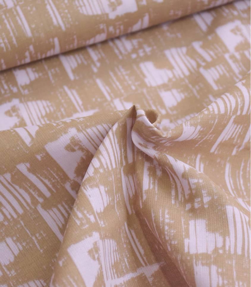 Tissu mousseline de coton - Empreinte