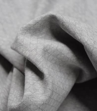 Tissu lin coton Losanges - gris