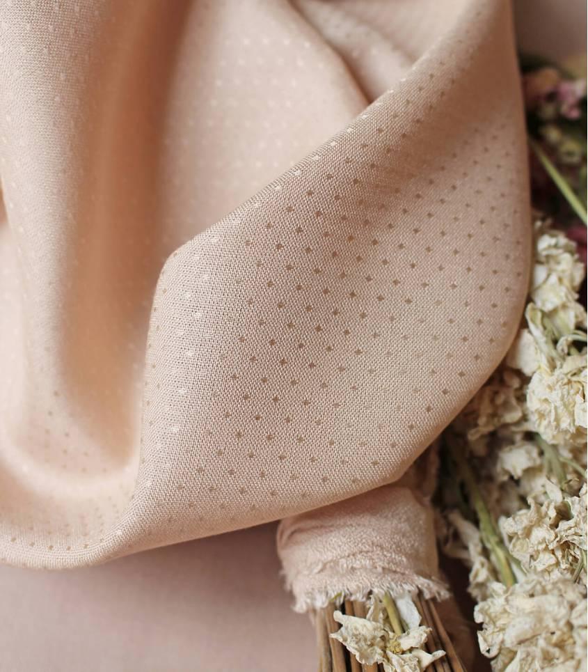 Tissu Dobby Blush