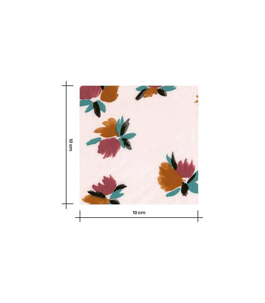 Tissu viscose Wild flowers - Nude