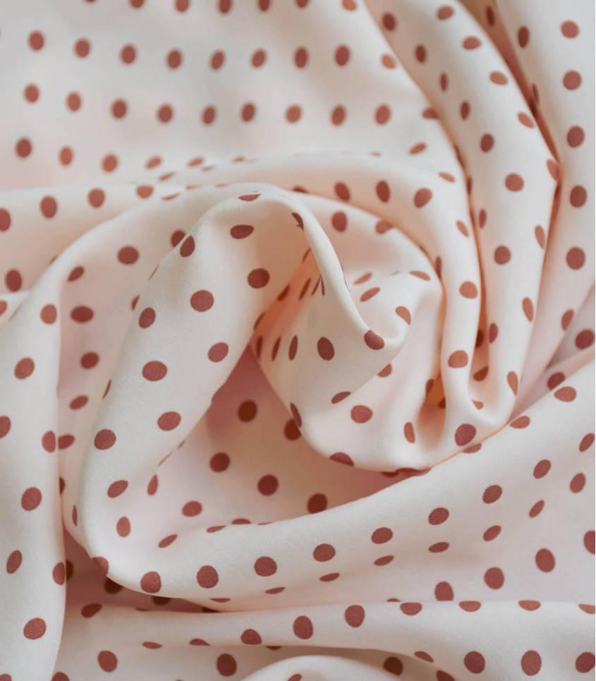 Tissu viscose Pois Eglantine - Nude