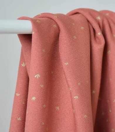 Tissu crêpe de viscose - Golden Flowers Eglantine
