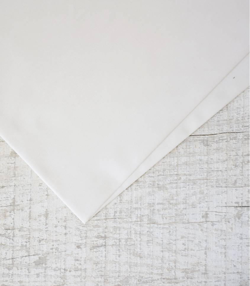 Tissu popeline de coton écrue